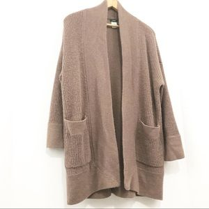 J Crew Sweater Open Front Long Cardigan Wool